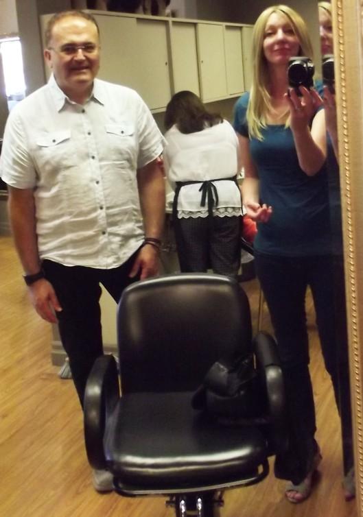 Blake wig by Jon Renau - with Dan Di Ileo from Tangles Salon in Guelph Ontario after custom cutting